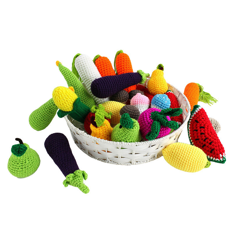 Baby Simulation Fruits Vegetables Plush Toys Baby Playmate -8355