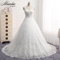 Vestido de noiva new design a line lace wedding dress 2016 v neck beaded sash backless.jpg 200x200