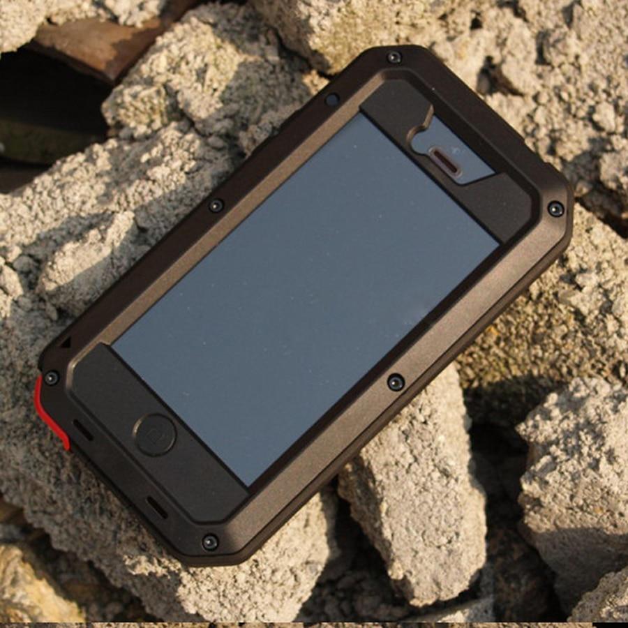 imágenes para Para el iphone 5 SE 5S EXTREME Dropproof Hermética Al Polvo Caja de metal de aleación para el iphone 5 SE 5S Cubierta de Metal + Gorilla Glass Retail embalaje