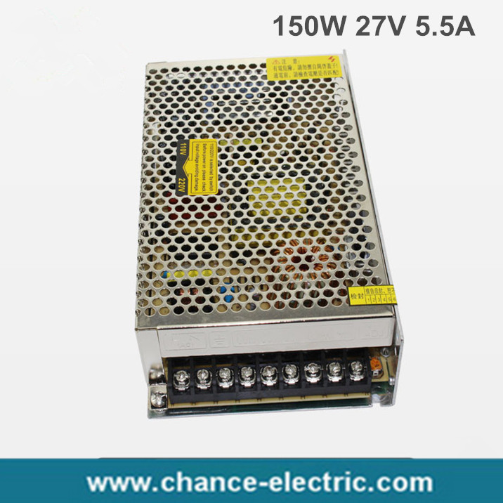180W 27V 6.6A Single Output Switching power supply for LED Strip light AC to DC  (S-180W-27V) ac 85v 265v to 20 38v 600ma power supply driver adapter for led light lamp