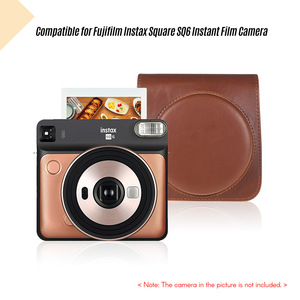 Image 4 - Andoer PU Leather Protective Camera Case Bag for Fujifilm Instax Square SQ6 Instant Film Camera Bag with Adjustable Strap