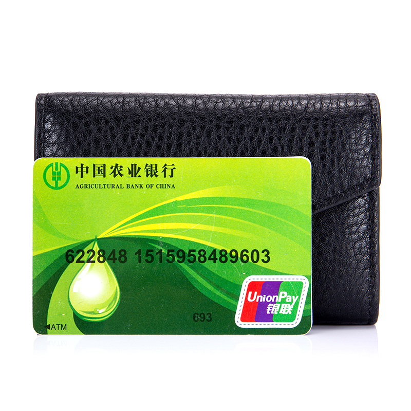 Women Fashion Designer Bank ID Business Credit Card Holder Leather Cow Genuine Leather Men Card Case High Quality Famous Brand