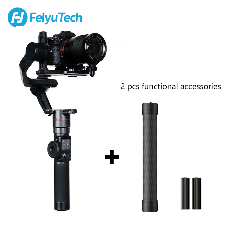 FeiyuTech AK2000 3-Axis Camera Stabilizer with Follow Focus Zoom for Sony Canon 5D Panasonic GH5/GH5S Nikon D850 2.8KG Payload feiyutech feiyu ak2000 3 axis handheld camera stabilizer 2 8kg loading gimbal for sony canon 5d 6d mark panasonic gh5 nikon d850