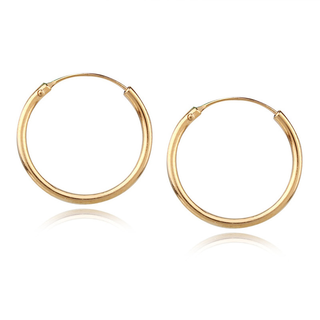 1pair European Simple Gold Color Hoop Earring For Women Small Round Piercing Earrings Hoops Boho Earing
