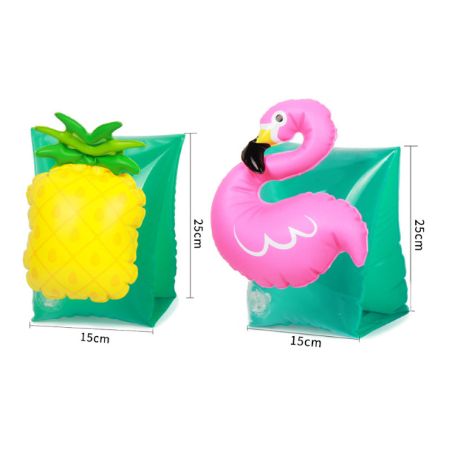 Baby Swimming Sleeve Cartoon Arm Float Strawberry Pineapple Double Airbag Inflatable Boat Safety Sleeve High Quality Swim Needs