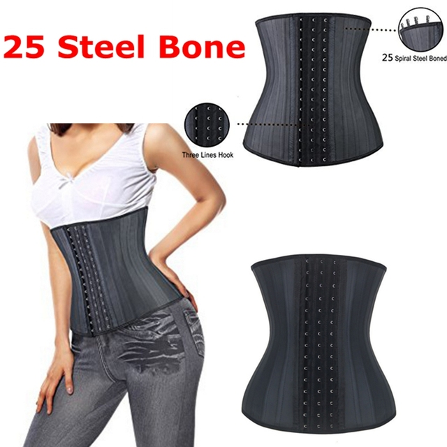 Super forte 25 aço desossado cinchers cintura látex de borracha látex trainer cintura slimming belt body shaper para as mulheres cinta modelagem