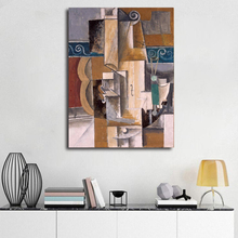 Pablo Picasso Guitar And Violin HD Canvas Posters Prints Wall Art Oil Painting Decorative Picture Bedroom Modern Home Decoration