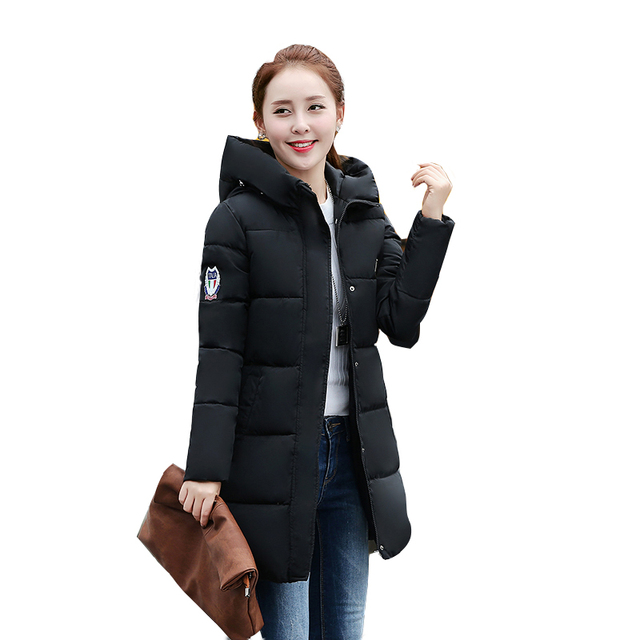 2018 New Winter Jacket Women Hooded Thicken Coat Female fashion Warm Outwear Down Cotton-Padded Long Wadded Jacket Coat Parka