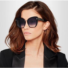 2017 NEW Gradient Points Sun Glasses Tom High Fashion Designer Brands For Women