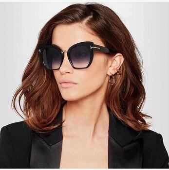 94b9ceaf64 2017 nueva Gradient Points gafas de sol Tom marcas alta del diseñador de  moda para las mujeres gafas de sol Cateyes oculos feminino de sol