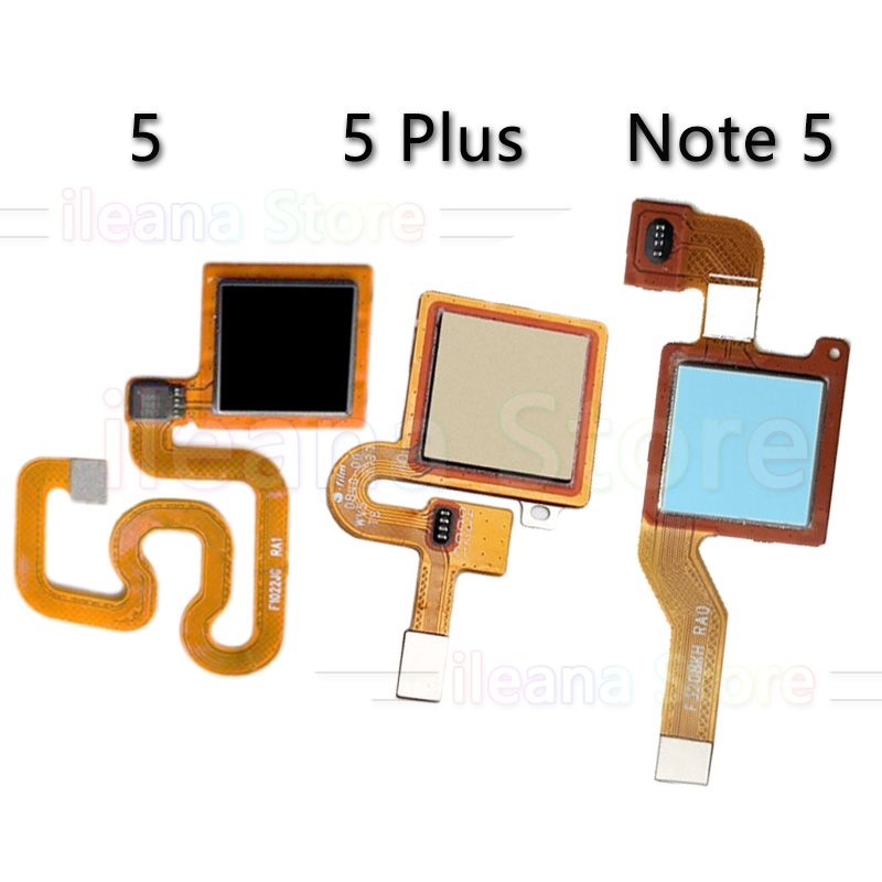 Original Back Home Button Fingerprint Sensor Flex Cable For Xiaomi Redmi Note 5 Plus Pro Phone Repair Parts