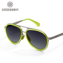 COLOSSEIN Sunglasses Women Pilot Retro Street Polarized Goggle Oval Lens Fashion Eyewear Adult Loves Glasses Popular Item