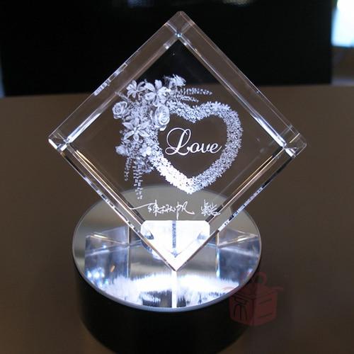 Fuji Levon custom engraving crystal cube girls birthday gift ideas ...