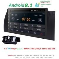 Android 8,1 1 Din Авторадио для BMW E39 BMW X5 E53 E38 M5 мультимедиа нет dvd плеер аудио стерео головное устройство gps навигации wi fi 4G