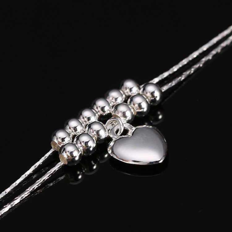 Новый Шарм Ножные браслеты для Для женщин Винтаж стопы ювелирные изделия Древний Посеребренная Сердце лодыжки браслет-цепочка
