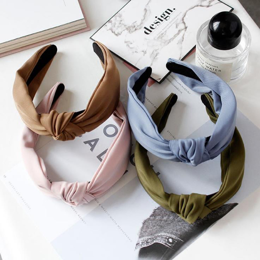 Fashion Women's Hairband Headband Solid   Headwear   Classic Girls Hair Accessories DIY Turban Hair Band Hair Hoop