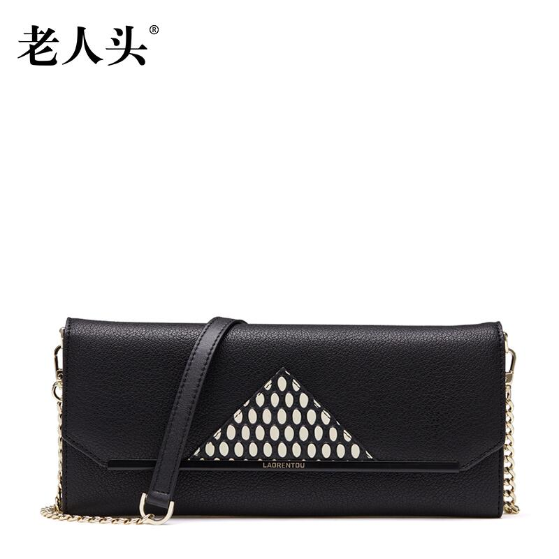 LAORENTOU high quality luxury fashion brand chain of small messenger bag leather bag counter genuine well