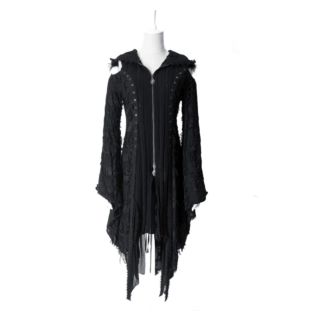 Punk Kera Knit Sweater Jacket Coat Visual Kei Gothic Decaent Harajuku Cardigan M025-in Cardigans from Women's Clothing    1
