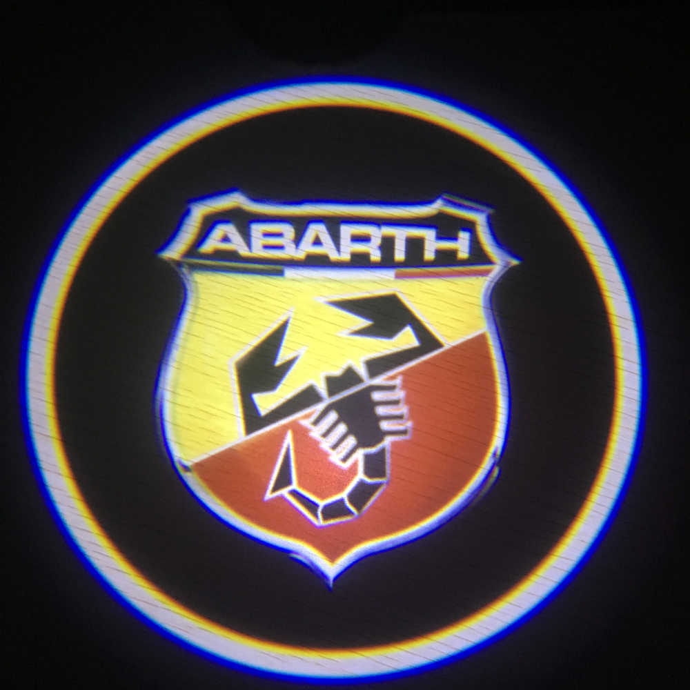 2X for ABARTH LED Car Door Welcome Light Logo Projector auto door lamp for Fiat Viaggio Abarth Punto 124 125 500