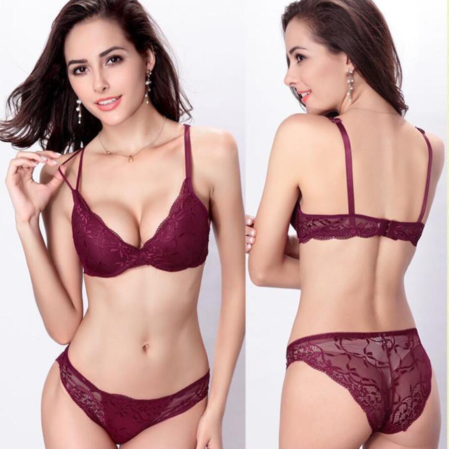New Fashion bra style underwear set vs sexy lace Luxury Elegant women bra + panty  set fashion embroidery push up bra set H013 e8d01600d