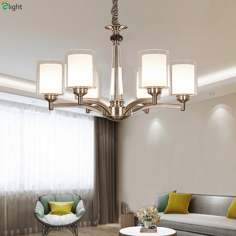Modern Nickel Led Chandeliers Lighting Dining Room Lustre Crystal Led Pendant Chandelier Lights Living Room Hanging Lamp Fixture led crystal chandeliers lamp round ring hanging lights modern led crystal chandelier fixture for living room lobby ac110v 240v