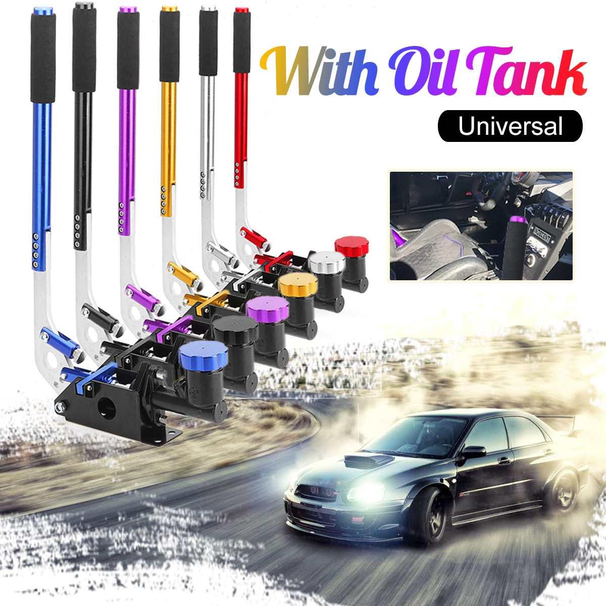 32.4cm Universal Long Vertical Hydraulic Handbrake Hydro E-brake Drift Race Hand Brake With Oil Tank