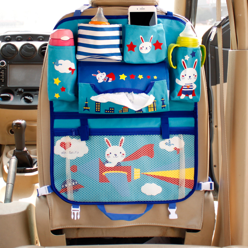 Image 4 - Cute Cartoon Lion Car Organizer Seat Back Storage Bag Hanging Stowing Tidying Baby Kids Travel Universal Auto Multi pocket Bag-in Stowing Tidying from Automobiles & Motorcycles