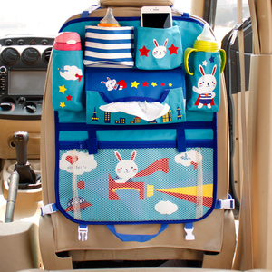 Image 4 - Cute Cartoon Lion Car Organizer Seat Back Storage Bag Hanging Stowing Tidying Baby Kids Travel Universal Auto Multi pocket Bag