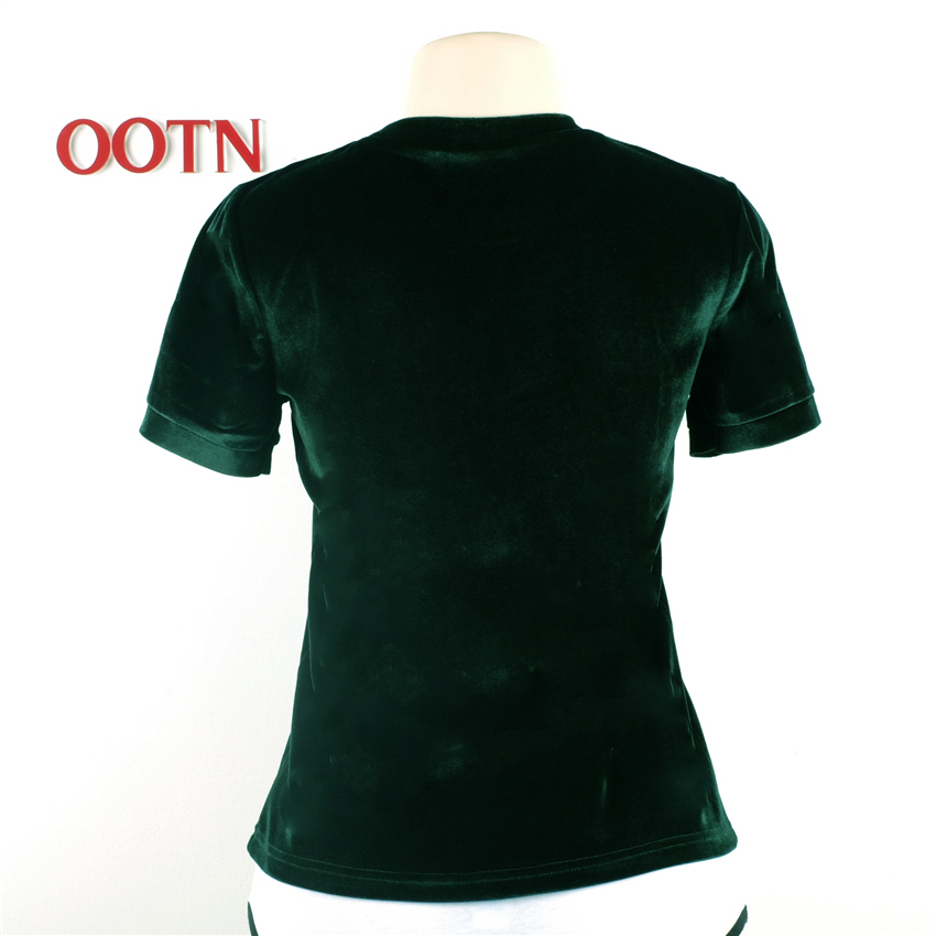HTB1Ii1NPpXXXXb7XpXXq6xXFXXX2 - Summer Tops Short Sleeve Cotton Velvet T Shirt Women