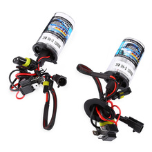 Pair of 12V 35W H4 - 2 Car HID Headlight Xenon light Super Vision 7600Lm Auto HID Lamp Bulb IP68 waterproof Eco-friendly