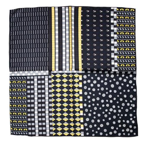 ELEGANT HANDMADE BRAND 100%Twill Silk Scarf 70cm TWIB-149727
