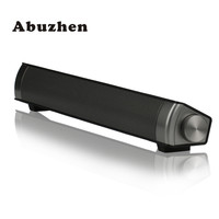Abuzhen Mini Bluetooth Speaker Soundbar Slim Magnetic Stereo Sound Subwoofer Speaker HIFI Boombox Speaker For Computer