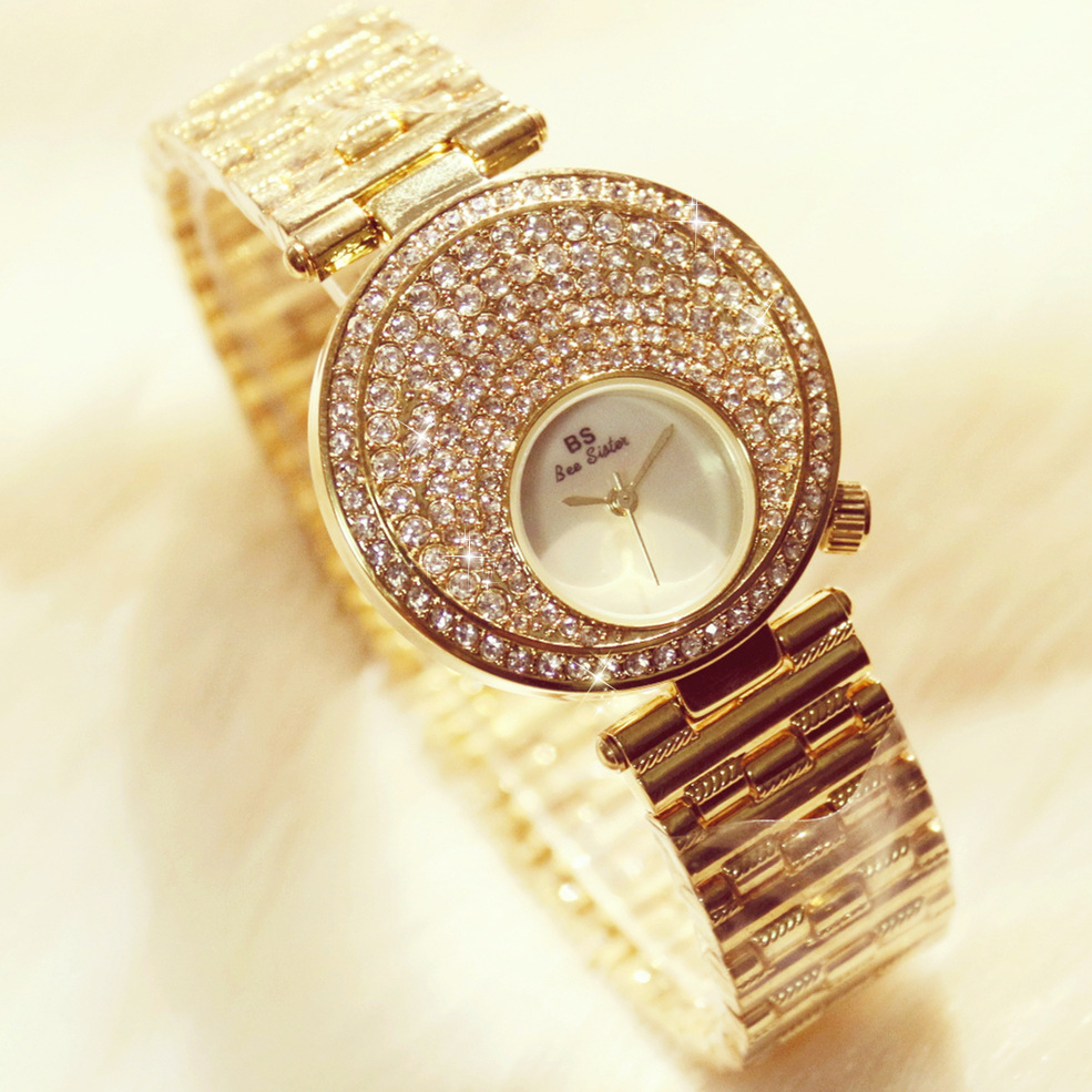 New Arrival Famous Brand Bling Watch Women Luxury Moon Crystals Watch Silver Shinning Diamond Rhinestone Bangle Bracelet new arrival famous bs brand bling diamond bracelet silver watch women luxury austrian crystal big watch rhinestone charm bangle