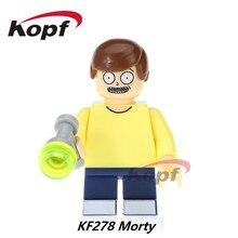 Única Venda Super Heróis Rick E Morty A Noiva Deadpool Lanterna Amarelo Modelo de Construção Tijolos Blocos Crianças Brinquedos de Presente KF278