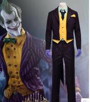 The Dark Knight Joker Costume Batman Joker Suit Outfits Classic Halloween Cosplay Movie Hero Costume Full Set Custom Made