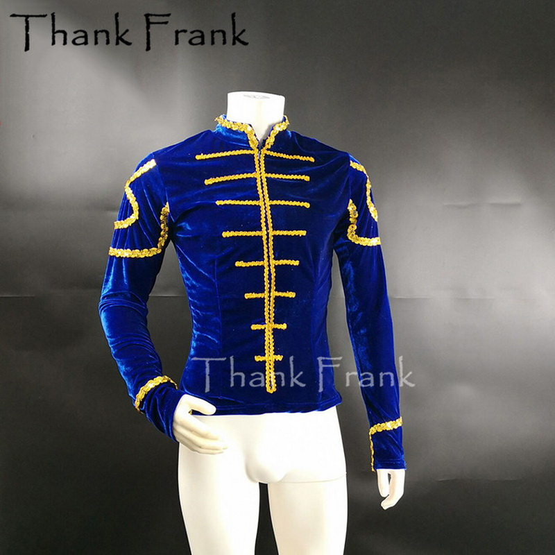 Custom Made Man Velvet Ballet Jacket Boys Classical Prince Dance Costumes Male Ballet Top Adult Prince Coat For Ballet Dance Top