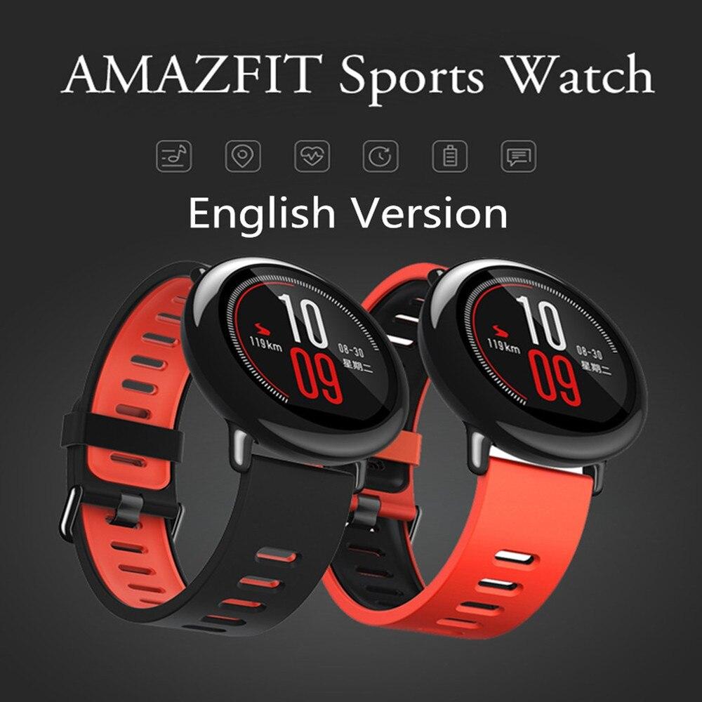 imágenes para [Versión en inglés] xiaomi amazfit deportes smart watch bluetooth 4.0 wifi dual core 512 mb 4 gb gps del ritmo cardíaco smartwatch pulsera