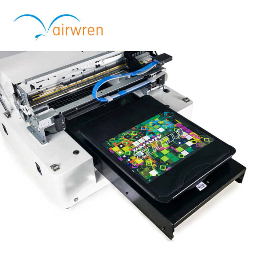A3 Size Diy Clothes 6 Color T-shirt Printer Dtg Flatbed Tshirt Printing Machine For Textile Direct Print