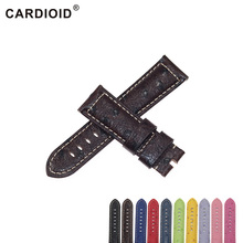 Cardioid 22mm 24mm Cow Leather Unisex Watchband For PANERAI Band Thick Handwork Watch Strap For RADIOMIR Band Clock Bracelet 22mm 24mm genuine leather watch band for panerai luminor radiomir butterfly buckle strap wrist belt bracelet black brown tool