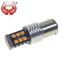 цена на KEIN P21w 1156 ba15s 1157 bay15d auto LED lamp 12v car light  stop brake tail bulb 15 SMD 2835 canbus xenon lamp
