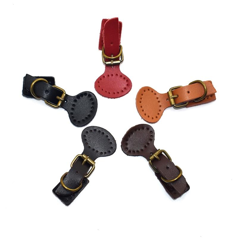2pcs/Lot Handmade Diy Patchwork Bags Lock Self Restraint Quality Cowhide Bag Accessories