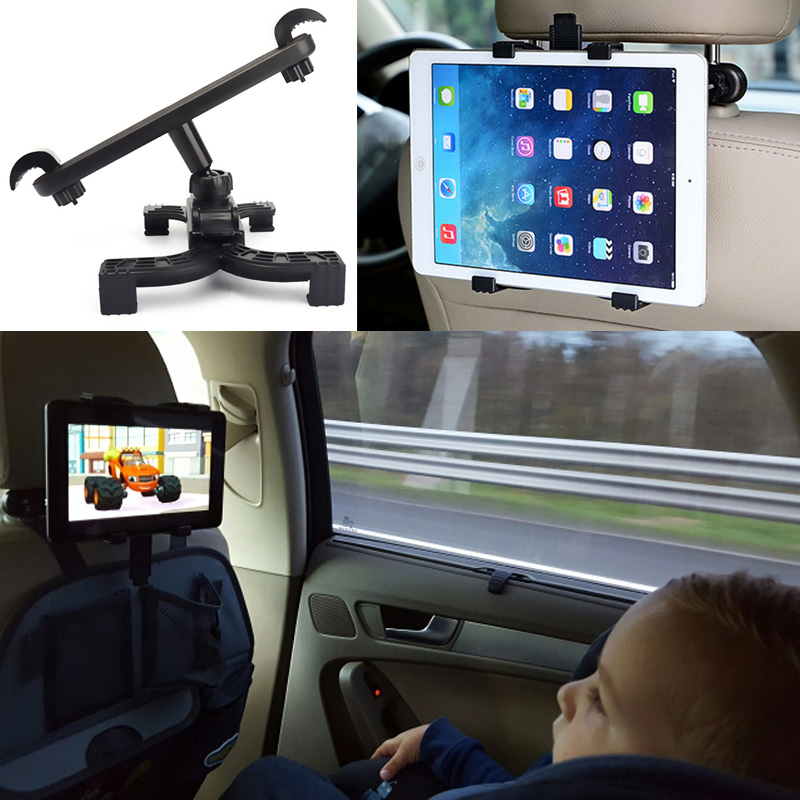Universal Car Back Seat Headrest Mount Holder Table Mount Holder for iPad mini/1/2/3/4/Air Tablet PC car universal mini outlet holder mount w back clip for lg g3 black
