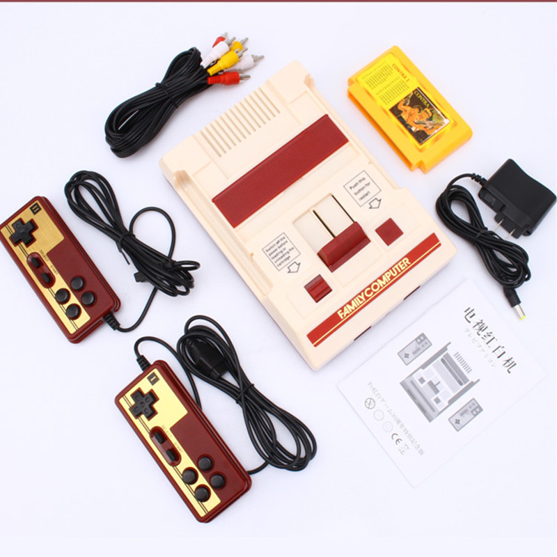 8 bit TV Game Player Classic Red White Video Game Consoles Video Game Console Yellow Card Plug-in Card Games RS-37 недорго, оригинальная цена