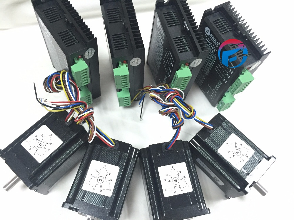 8 pcs a lot 4 axis cnc control system include 4 pcs for Stepper motor control system