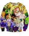 Guerreiros Crewneck Camisola Goku De Dragon Ball Z anime Personagens Mulheres Homens 3d Jumper de Moda Vestuário Hoodies Suam Tops