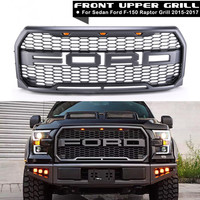 XYIVYG 2015 2017 for Ford F150 Raptor Style Replacement Part ABS Front Bumper Grille W/ LED