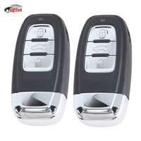 KEYECU 2 Pcs/lot New Replacement Upgraded Smart Remote Car Key Shell Case Fob 3 Button for Audi A6L Q7 & Keyless go Flip Model