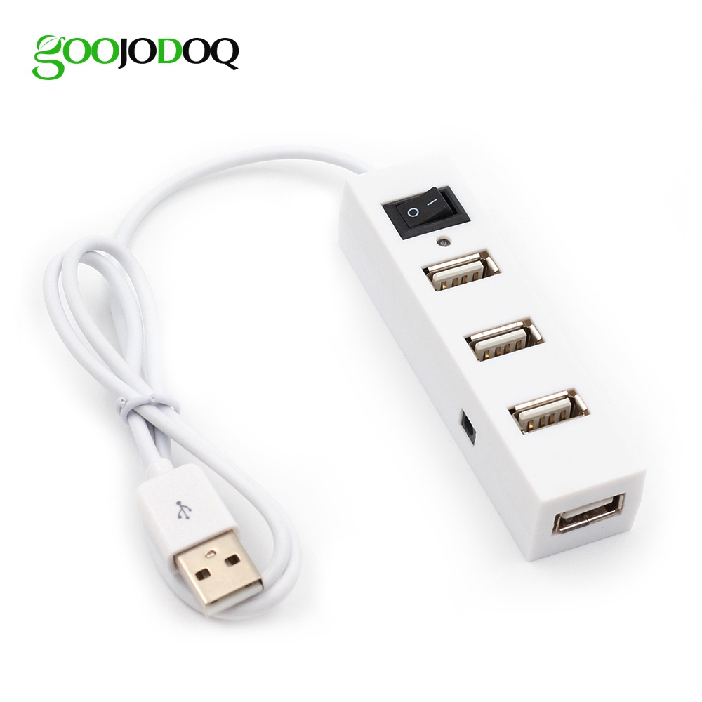 High Speed ​​Mini 4 Port USB 2.0 Hub USB Port Splitter Til Laptop PC Computer Peripherals Tilbehør Engros Gratis Drop Shipping