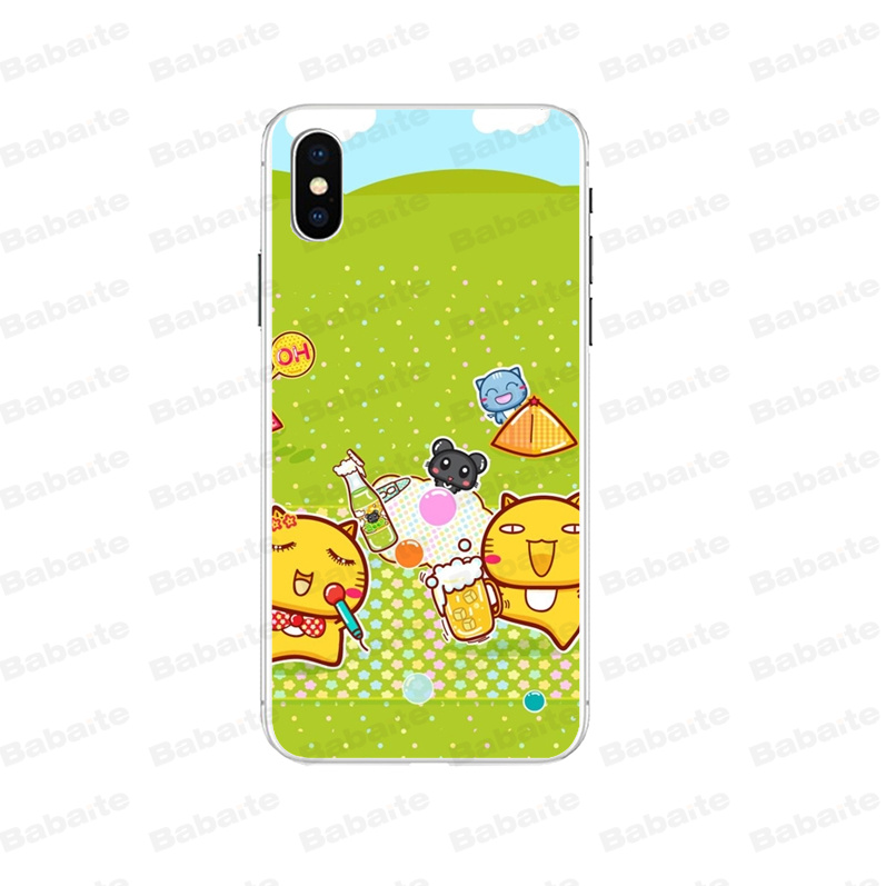 Babaite Cartoon hami cat Novelty Fundas Phone Case Cover for Apple iPhone 8 7 6 6S Plus X XS MAX 5 5S SE XR Mobile Cases in Half wrapped Cases from Cellphones Telecommunications