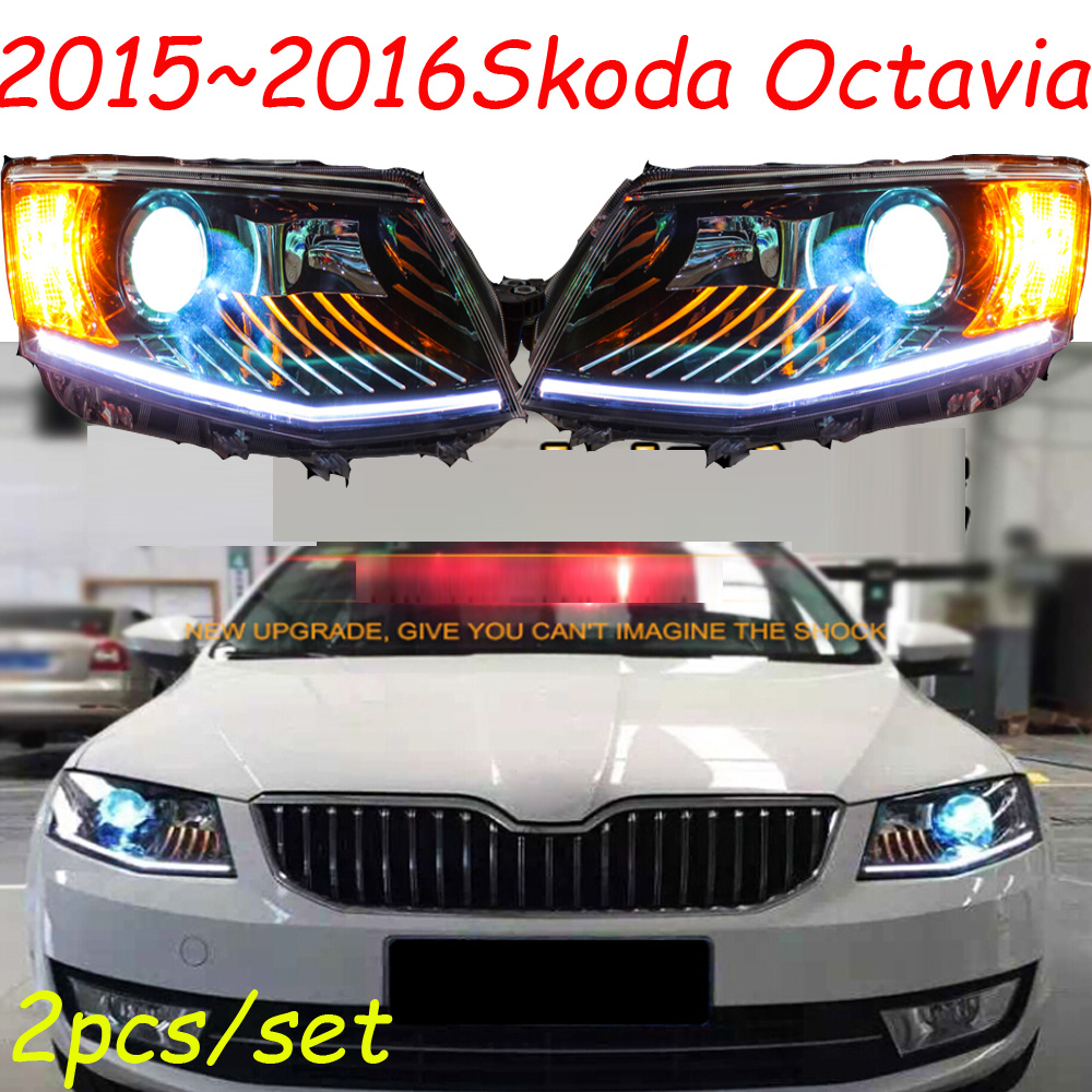 Octavia headlight,2015~2016,Fit for LHD,If RHD need add 200USD,Free ship!Octavia fog light,2ps/se+2pcs Aozoom Ballast;Octavia cadilla srx headlight 2011 2015 fit for lhd if rhd need add 300usd free ship srx fog light 2ps set 2pcs ballast srx